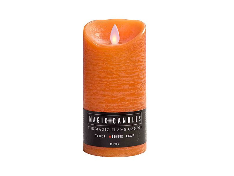 Светодиодная свеча Peha Magic Мерцающая 7.5x15cm Orange MB-20201