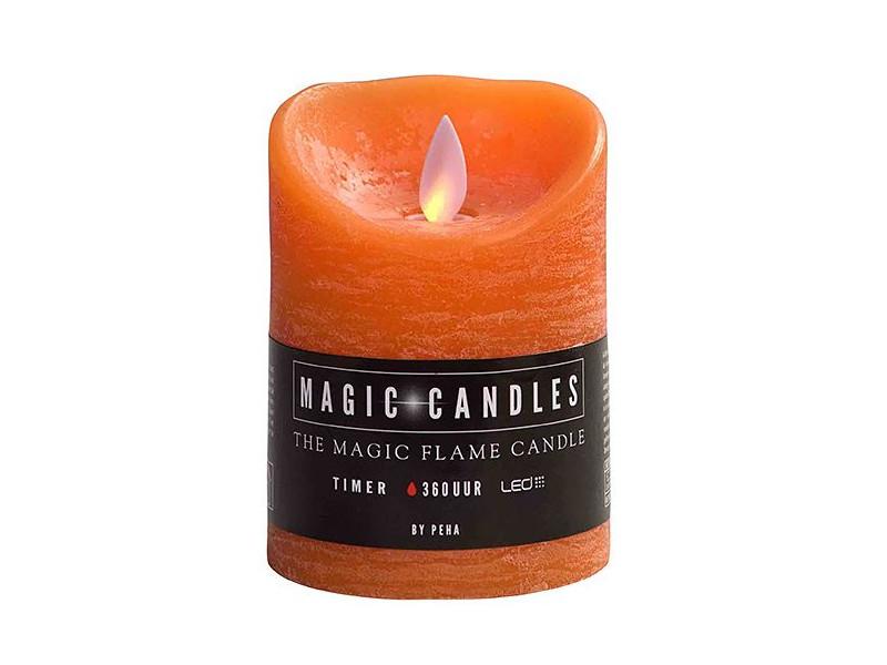 Светодиодная свеча Peha Magic Мерцающая 7.5x10cm Orange MB-20199
