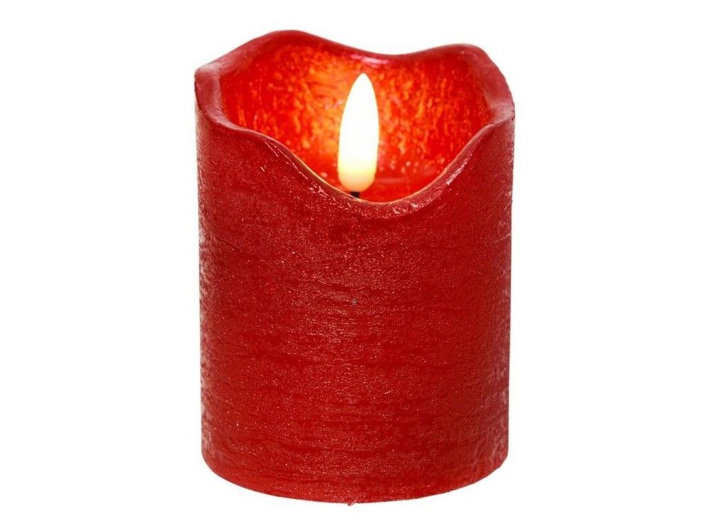 Светодиодная свеча Kaemingk Живая душа 7x9cm Red 480024/165395