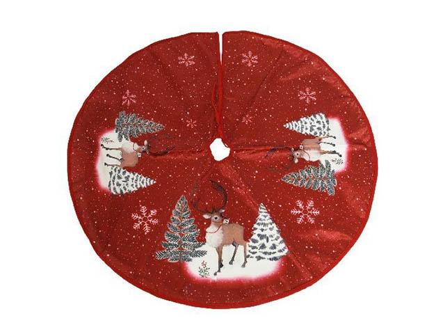 Юбка для декорирования ёлки Kaemingk Тёплая радость Олени 110cm 611616/165927