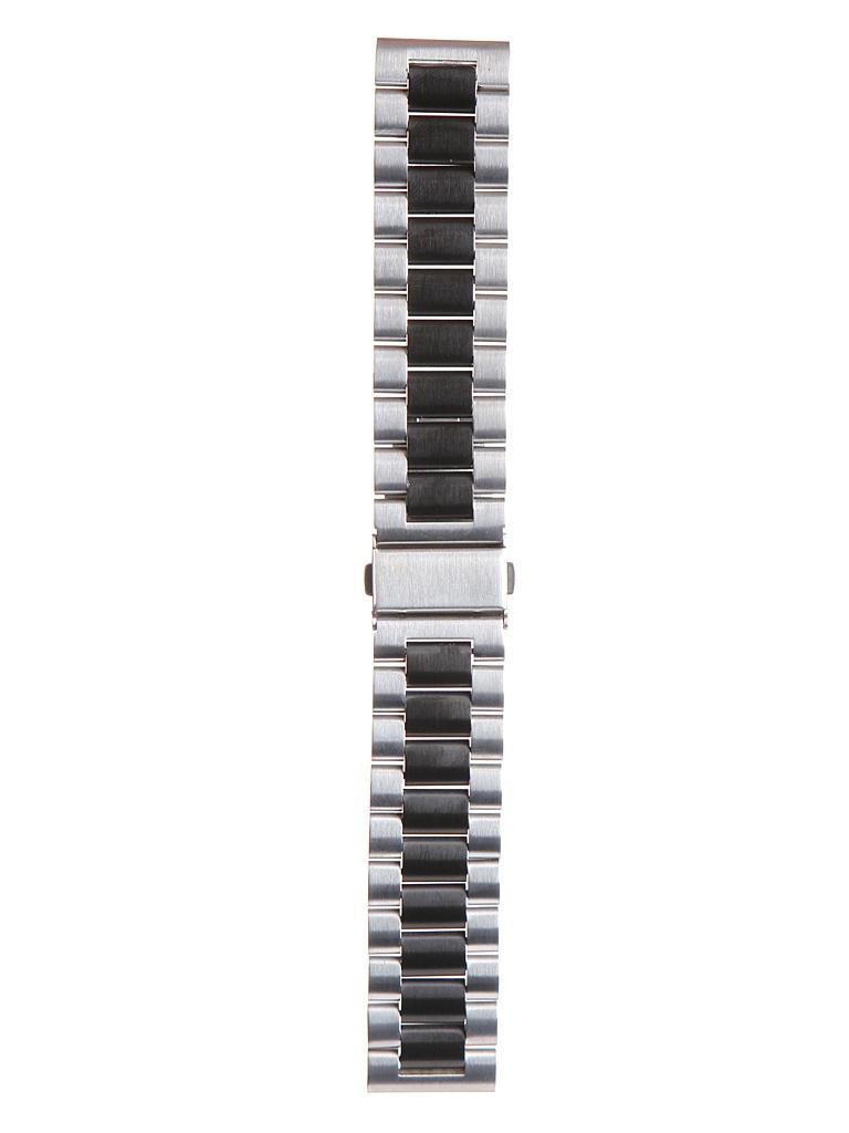 Аксессуар Универсальный ремешок Red Line 22mm Metal Silver-Black УТ000022768