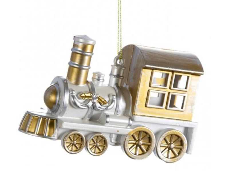 Елочная игрушка Peha Magic Обаятельный паровозик 8х12х5cm 402092