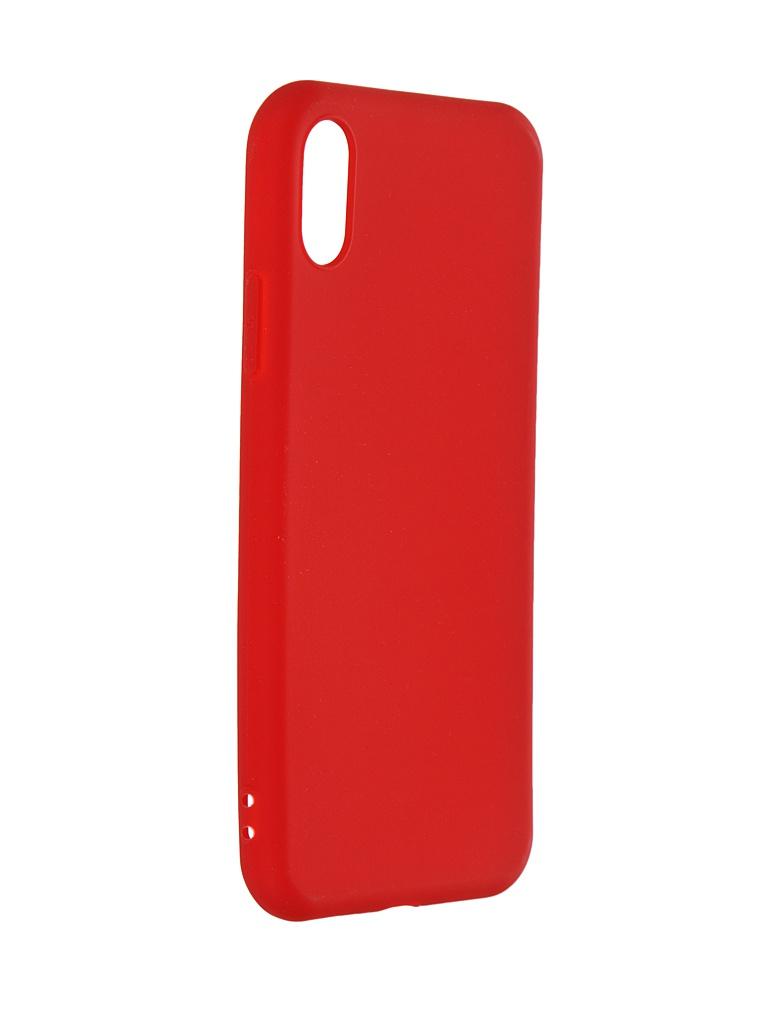 Чехол Pero для APPLE iPhone X Soft Touch Red PRSTC-IXR