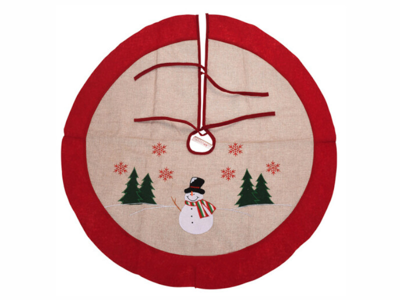 Юбка для декорирования ёлки Kaemingk Милая аппликация Снеговичок 90cm DH8028200/173186