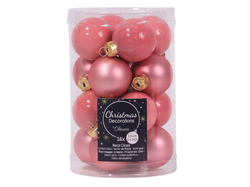 Набор шаров Kaemingk Делюкс мини 35mm 16шт Pink Caramel 010396/167537