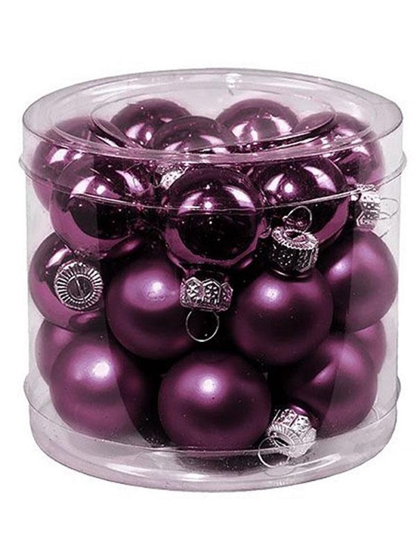 Набор шаров Kaemingk Делюкс 25mm 24шт Purple 010278/167532