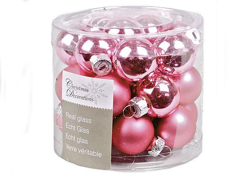 Набор шаров Kaemingk Делюкс 25mm 24шт Pink 010290/167246