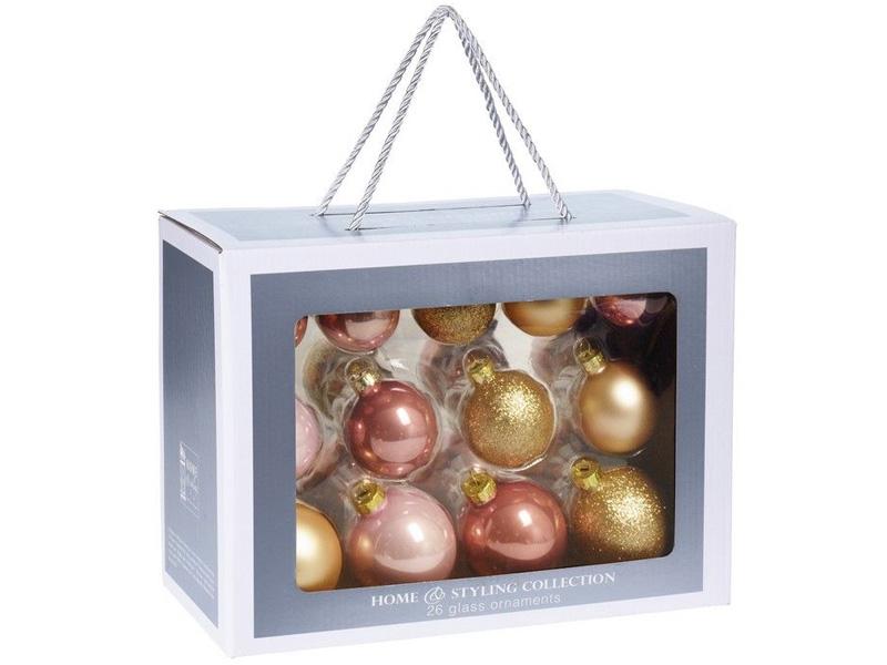Набор шаров Koopman International Праздничный аккорд Розовое шампанское 26шт ABR400170/167414