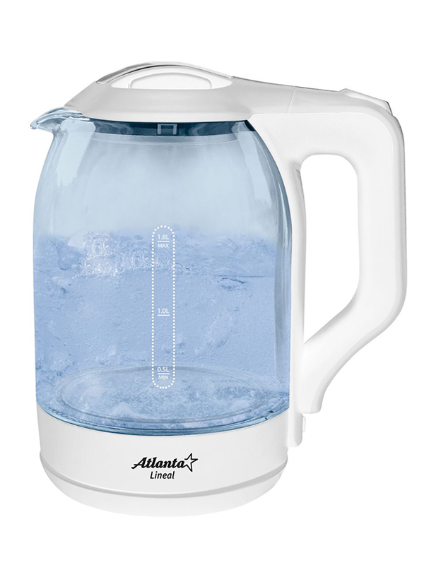 Чайник Atlanta ATH-2466 1.8L White весы напольные atlanta ath 6131 white
