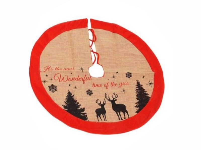 Юбка под основание елки Kaemingk Новогодние силуэты - олени 86cm 660249