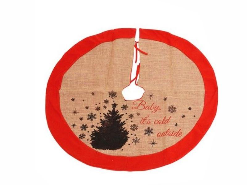 Юбка под основание елки Kaemingk Новогодние силуэты - ёлочки 86cm 660249