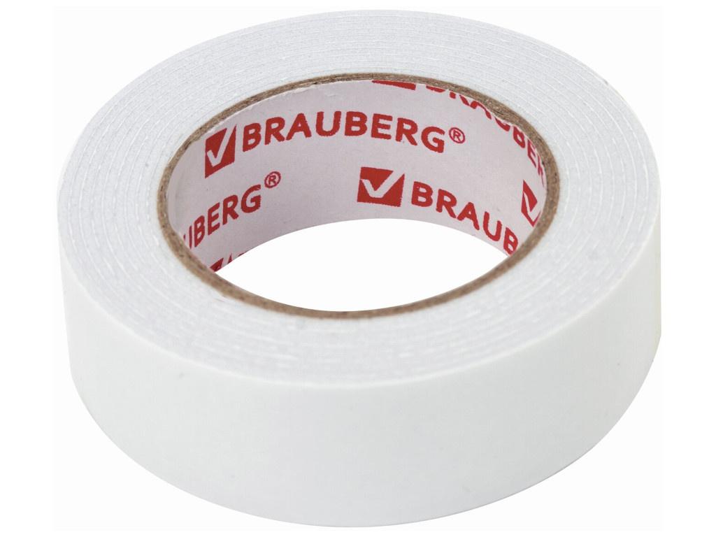 Клейкая лента Brauberg Двусторонняя на вспененной основе 19mm x 1.5m 606419