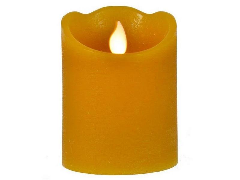 Светодиодная свеча Kaemingk Праздничная 7.5x15cm Mustard 480008/165394