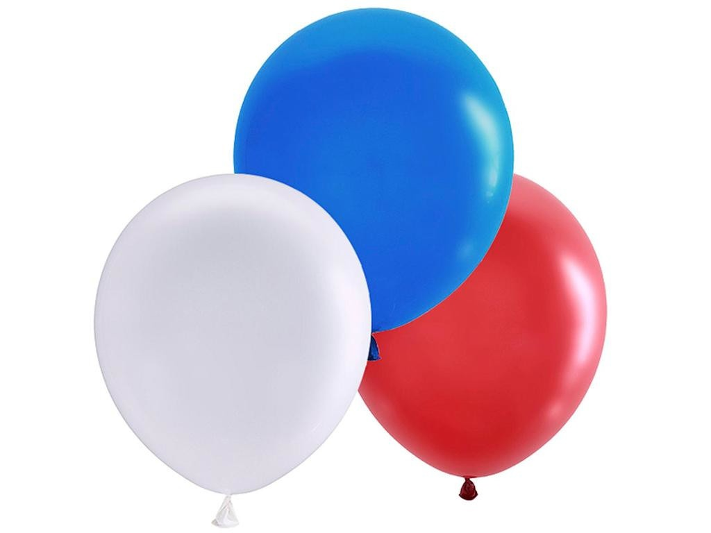 Набор воздушных шаров Пати Бум Триколор 30cm 30шт 851368