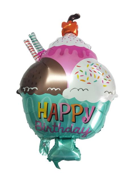 Шар фольгированный Пати Бум Десерт Happy Birthday 45cm 6059132/1134228