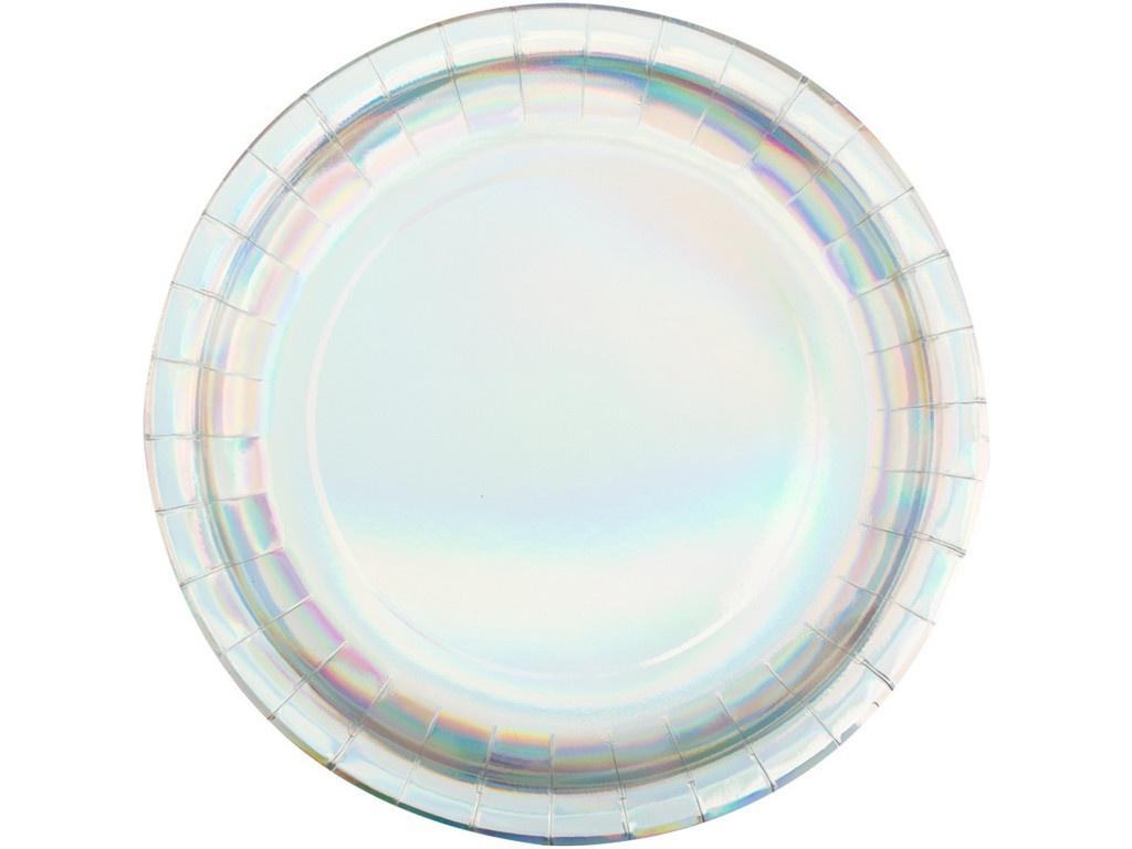 Одноразовые тарелки Пати Бум Радужные фольгированные 230mm 6шт 6058883