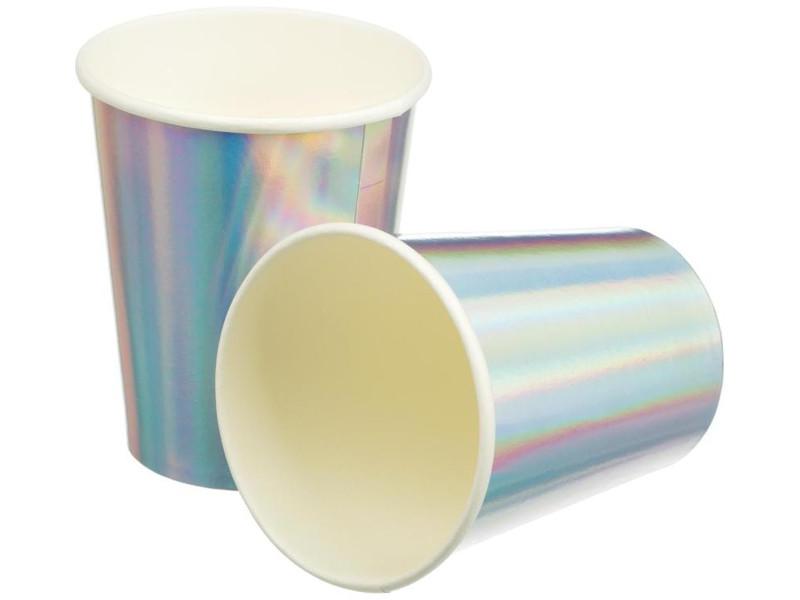 Одноразовые стаканы Пати Бум Радужные фольгированные 220ml 6шт 6058890