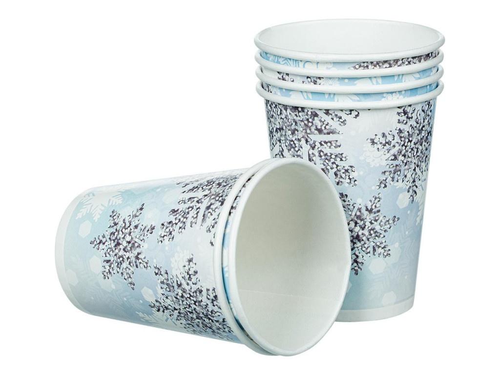 Одноразовые стаканы Пати Бум Снежинки 200ml 6шт 6072988