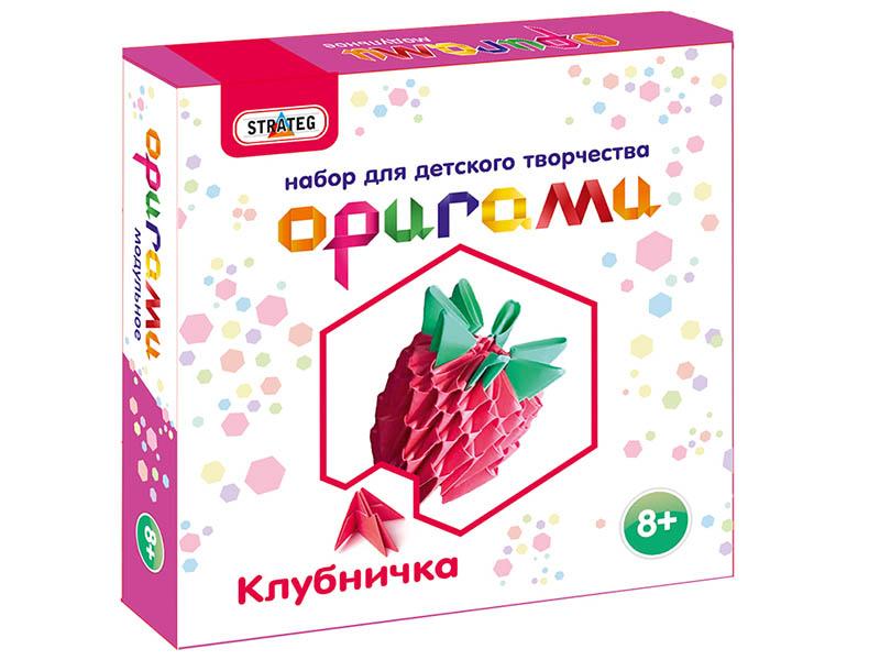 Набор Strateg Модульное оригами Клубничка 203-10