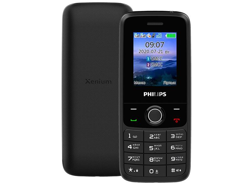 Фото - Сотовый телефон Philips E117 Xenium Dark Grey телефон philips xenium e117