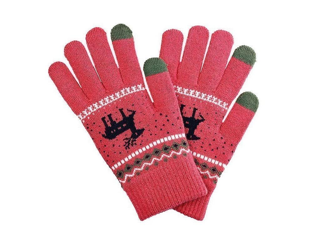 Теплые перчатки для сенсорных дисплеев Activ Fashion Dark Pink 91309