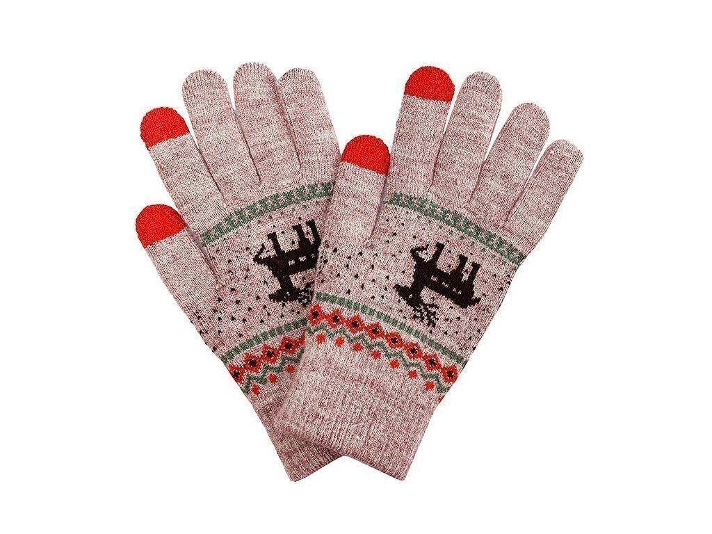 Теплые перчатки для сенсорных дисплеев Activ Fashion Light Brown 91311