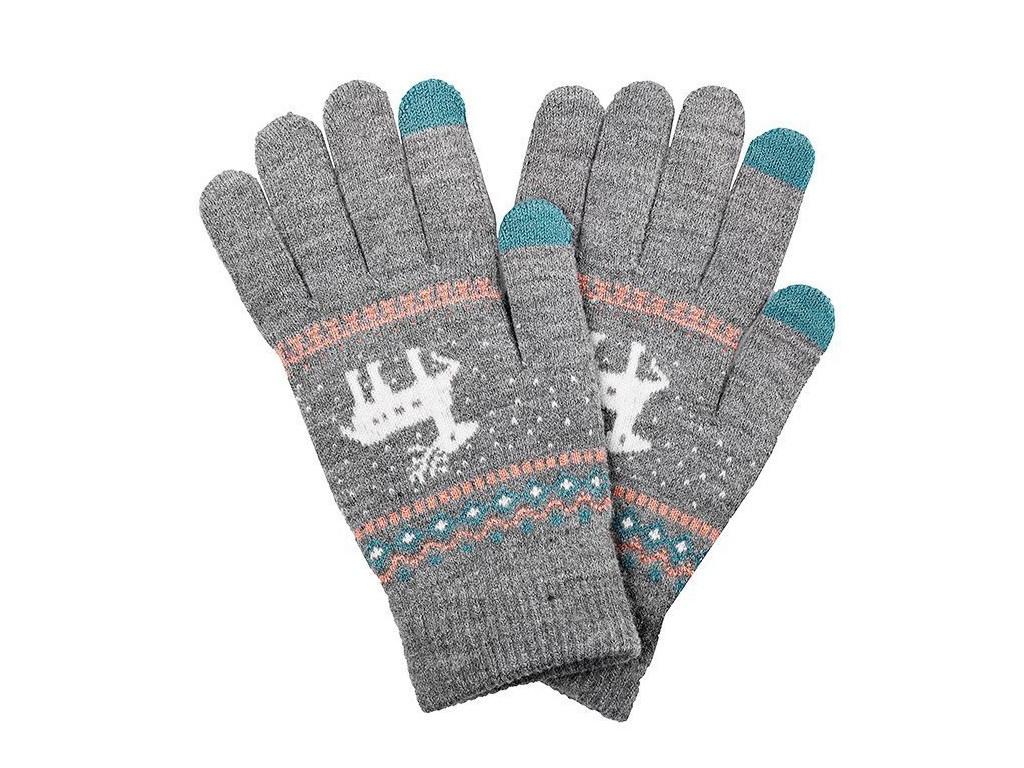 Теплые перчатки для сенсорных дисплеев Activ Fashion Light Grey 91308