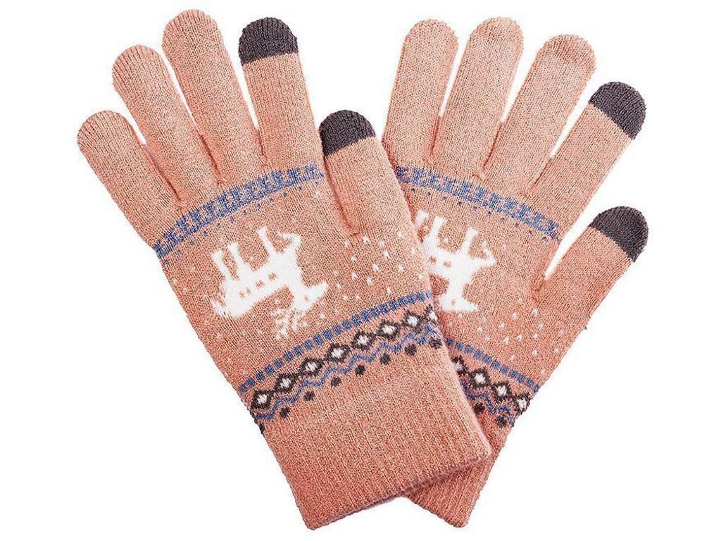 Теплые перчатки для сенсорных дисплеев Activ Fashion Light Orange 91310