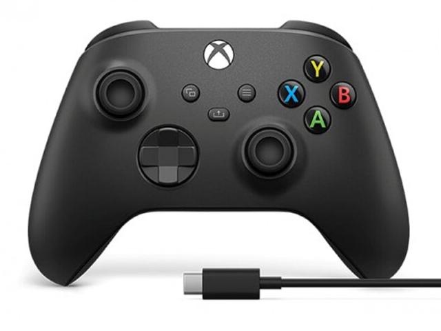 Геймпад Microsoft Wireless Controller Carbon Black 1V8-00008