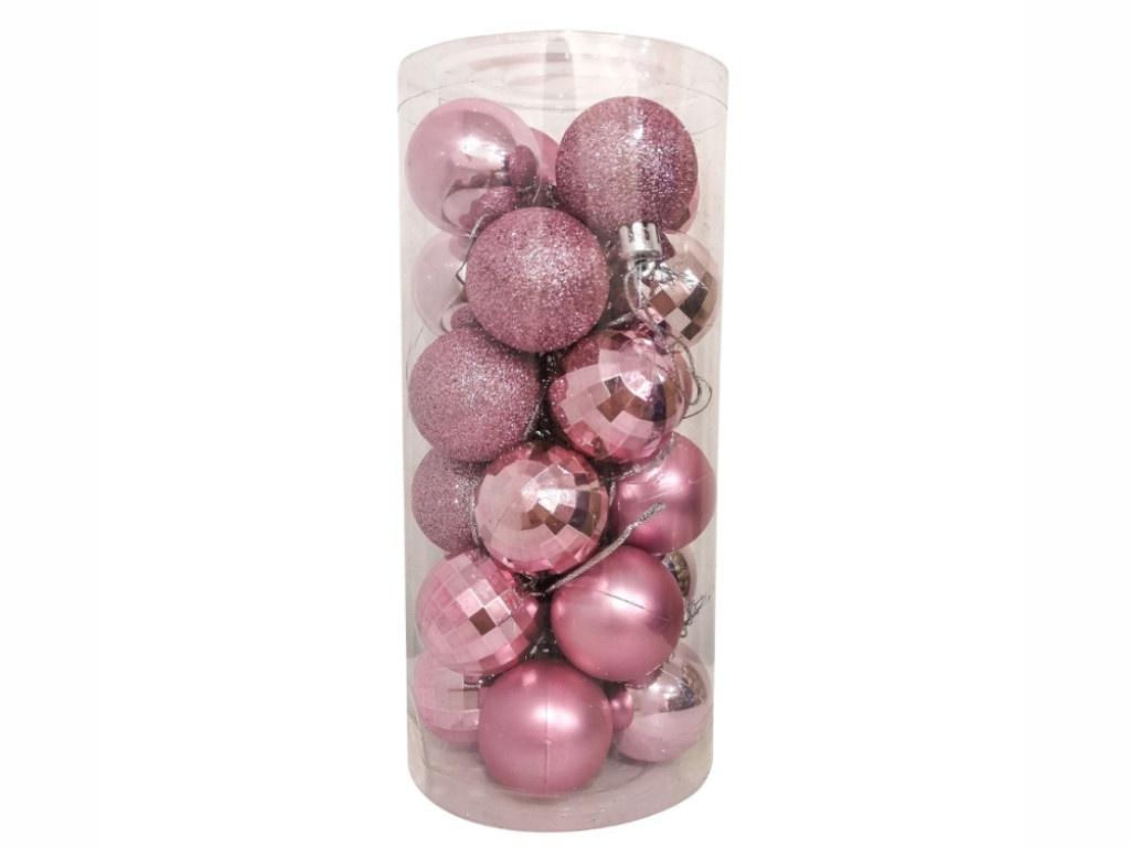 Набор шаров Hangzhou 4cm 24шт Pink НБ-2445