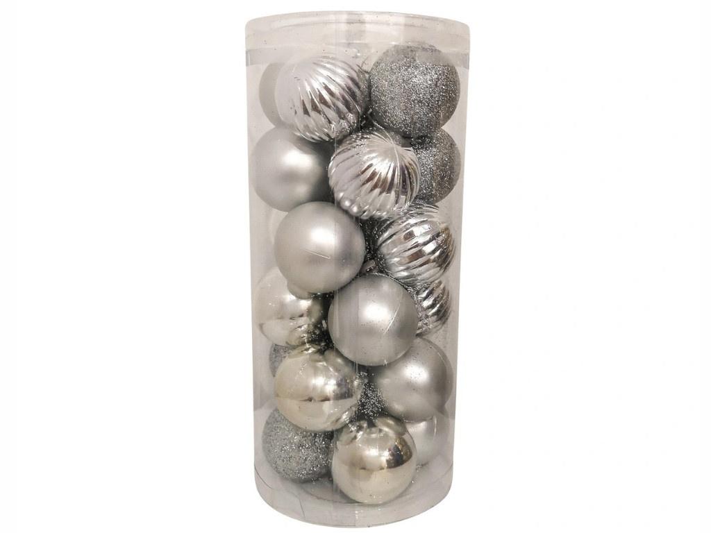 Набор шаров Hangzhou 4cm 24шт Silver НБ-2443
