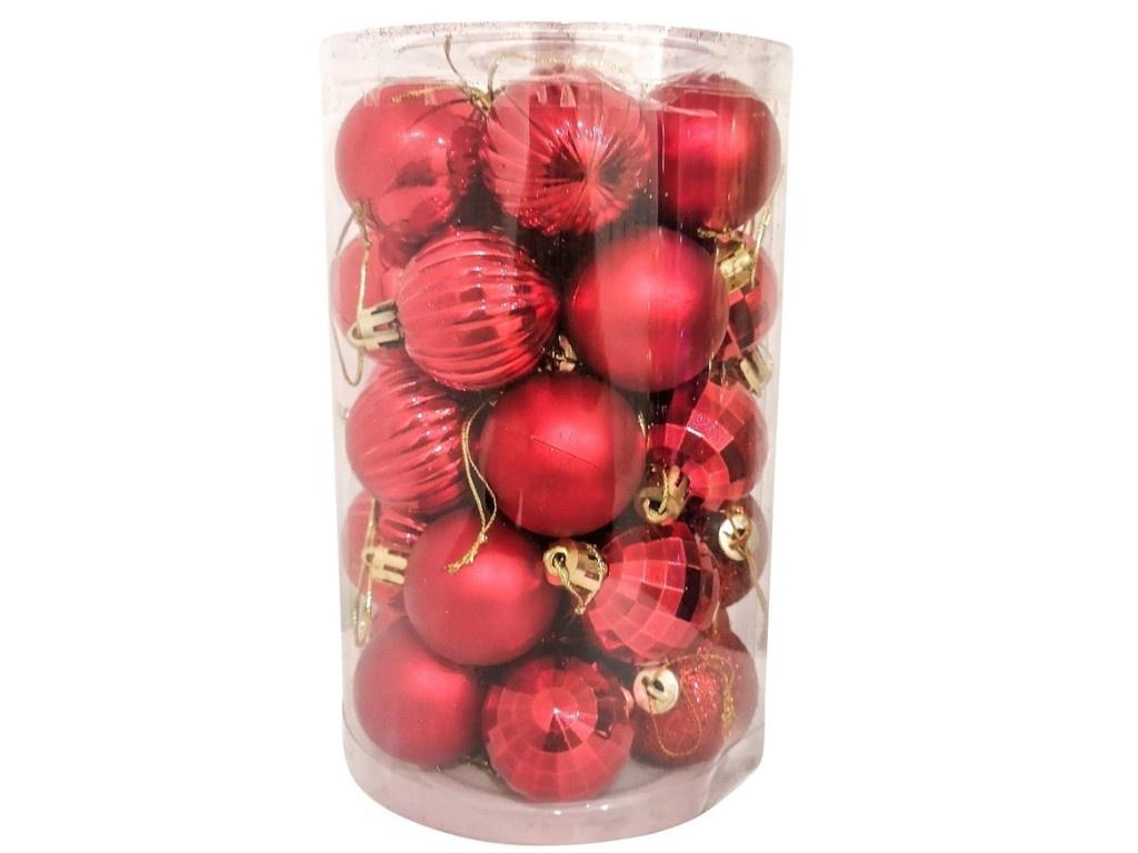 Набор шаров Hangzhou 4cm 34шт Red НБ-3443