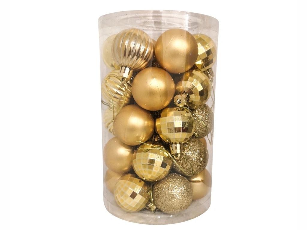 Набор шаров Hangzhou 4cm 34шт Gold НБ-3441