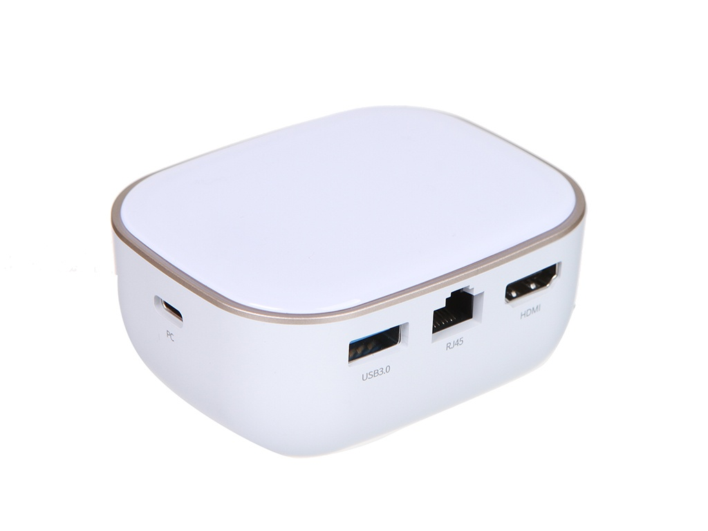 Хаб USB Baseus Type-C Adapter AC Multifunctional Charger White CAHUB-AU02