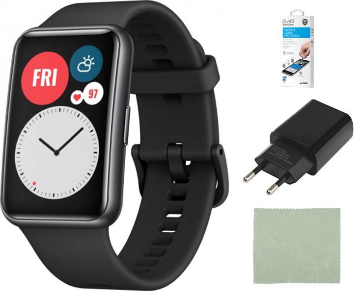 Умные часы Huawei Watch Fit TIA-B09 Black 55025871 Выгодный набор + серт. 200Р!!!