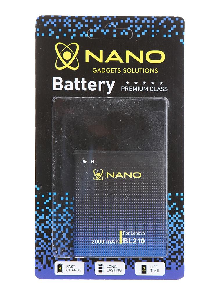 Аккумулятор Nano Original Battery для Lenovo S820/S650/A656 2000mAh BL 210