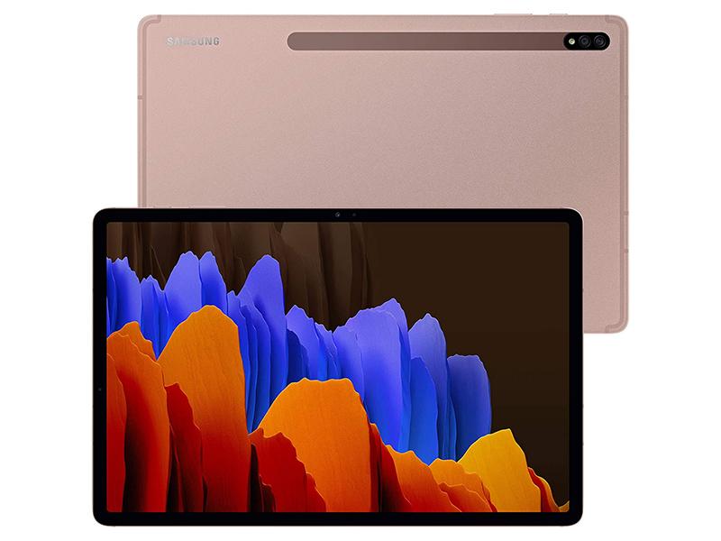 Планшет Samsung Galaxy Tab S7+ 12.4 SM-T970 - 128Gb Bronze Выгодный набор + серт. 200Р!!!