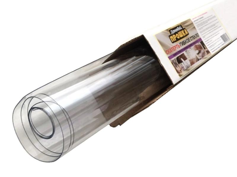Скатерть Домовой Прошка Гибкое стекло 140x80cm 0.5mm ПВХ