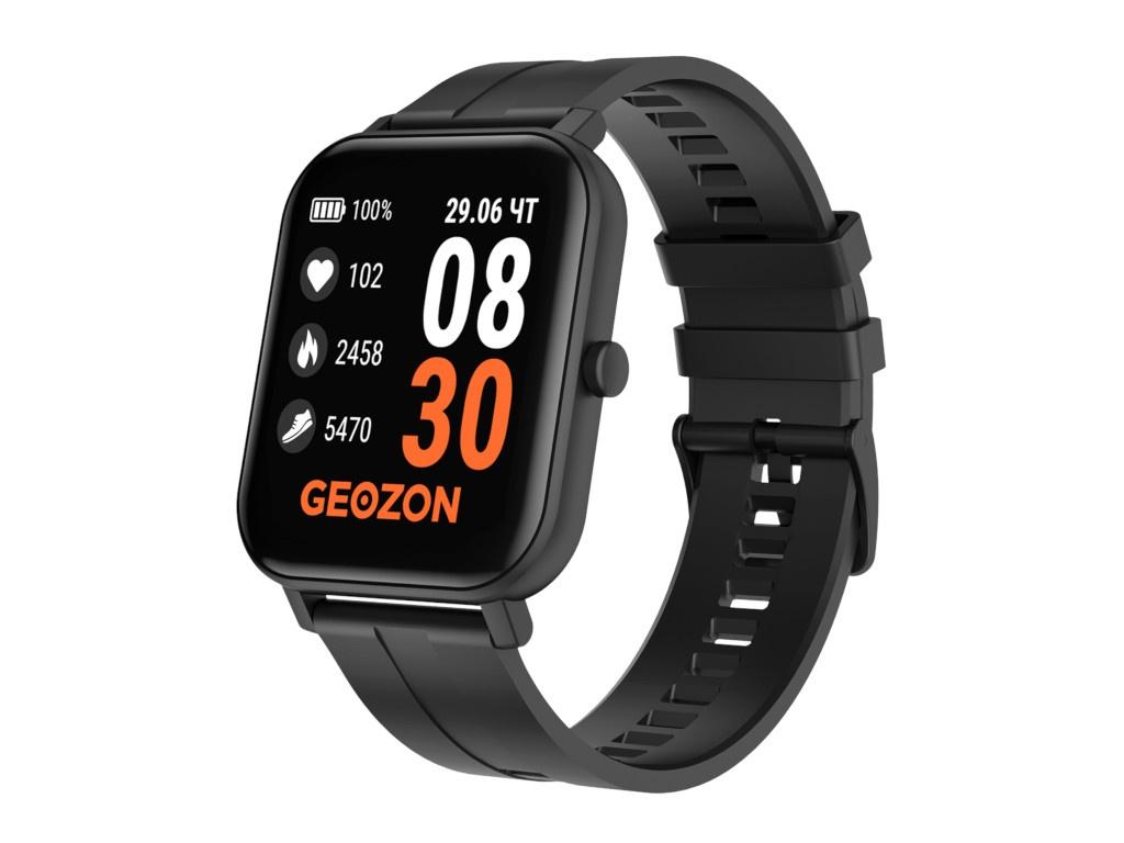 Умные часы Geozon Runner Black Strap + доп ремешок Blue G-SM12BLK