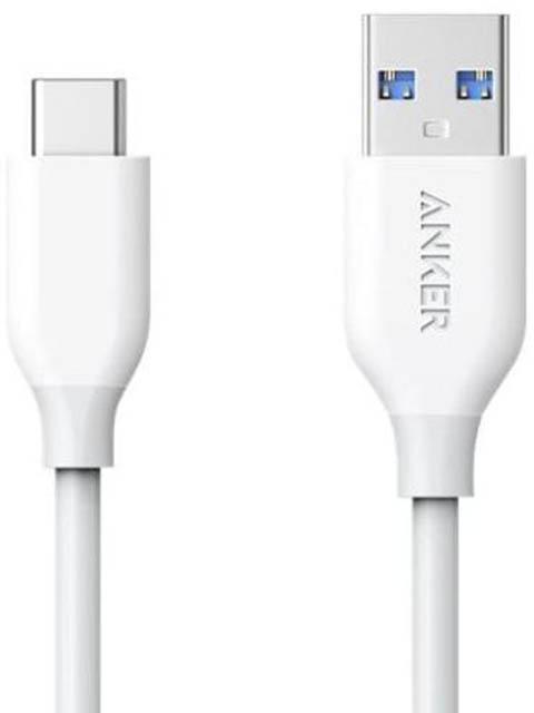 Фото - Аксессуар Anker PowerLine Select+ USB-A - USB-C 90cm White A8022H21 usb кабель anker powerline select usb c cable with lightning connector 90 см black a8612h11