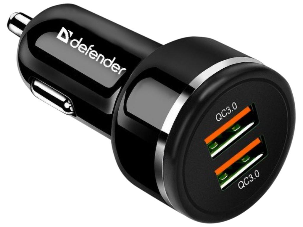 Фото - Зарядное устройство Defender UCA-80 36W 2xUSB QC3.0 83832 зарядное устройство defender upc 21 2xusb кабель microusb 83581