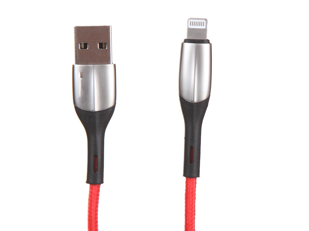 Фото - Аксессуар Baseus Horizontal USB - Lightning 2m Red CALSP-C09 аксессуар baseus golden belt usb lightning 1 5m black red calgb a19