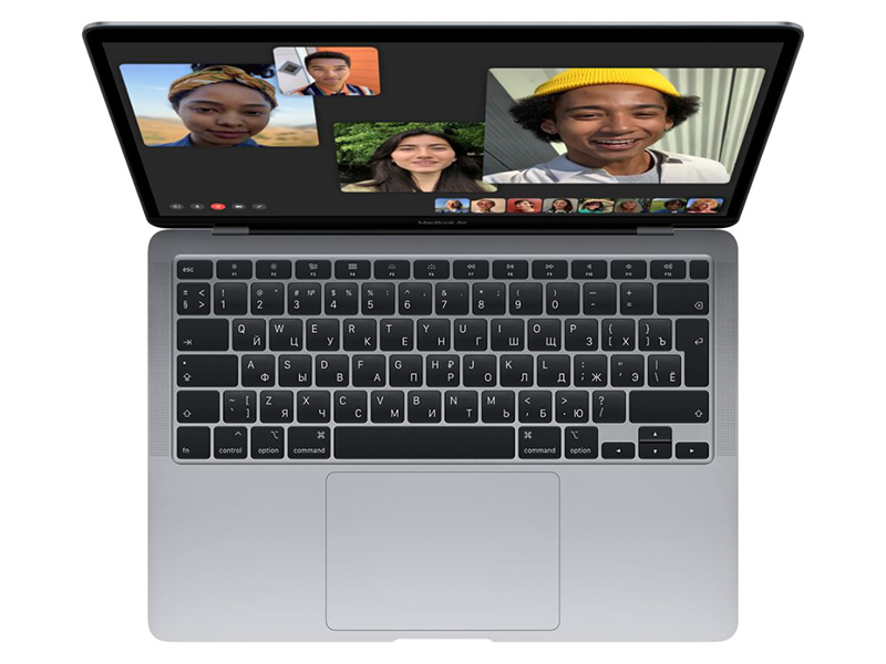 Ноутбук APPLE MacBook Air 13 (2020) Silver MGN93RU/A (Apple M1/8192Mb/256Gb SSD/Wi-Fi/Bluetooth/Cam/13.3/2560x1600/Mac OS)