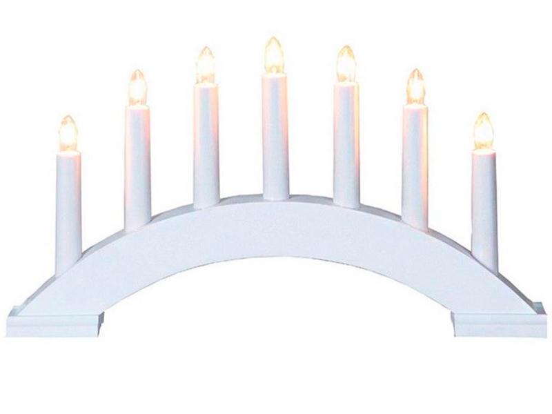 Светящееся украшение Star Trading Рождественская горка Бейа 7 свечек White 283-18