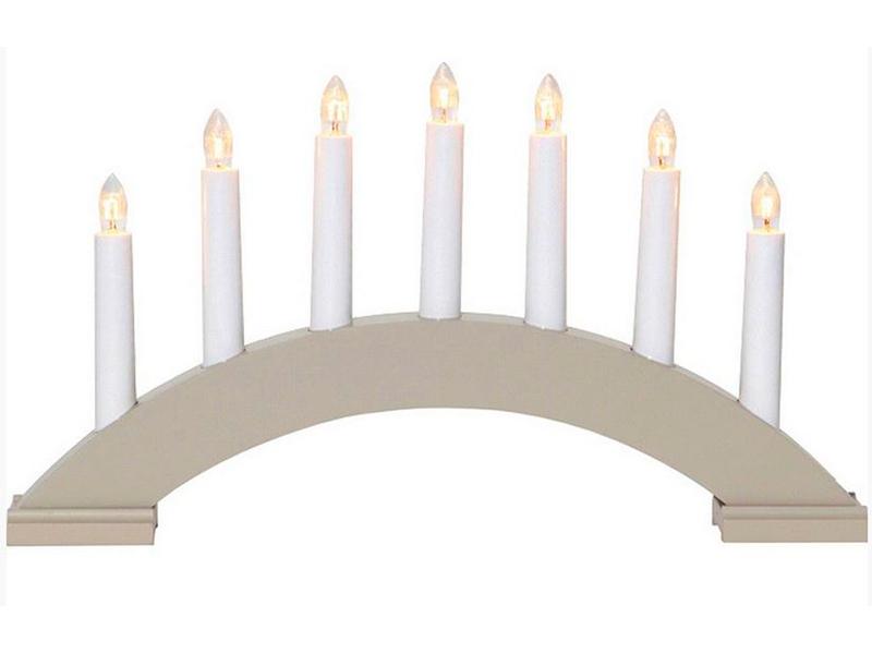 Светящееся украшение Star Trading Рождественская горка Бейа 7 свечек Light Grey 283-17