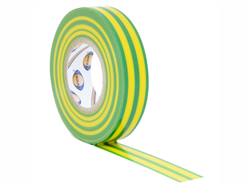 Изолента Aviora 15mm x 20m Yellow-Green 305-059