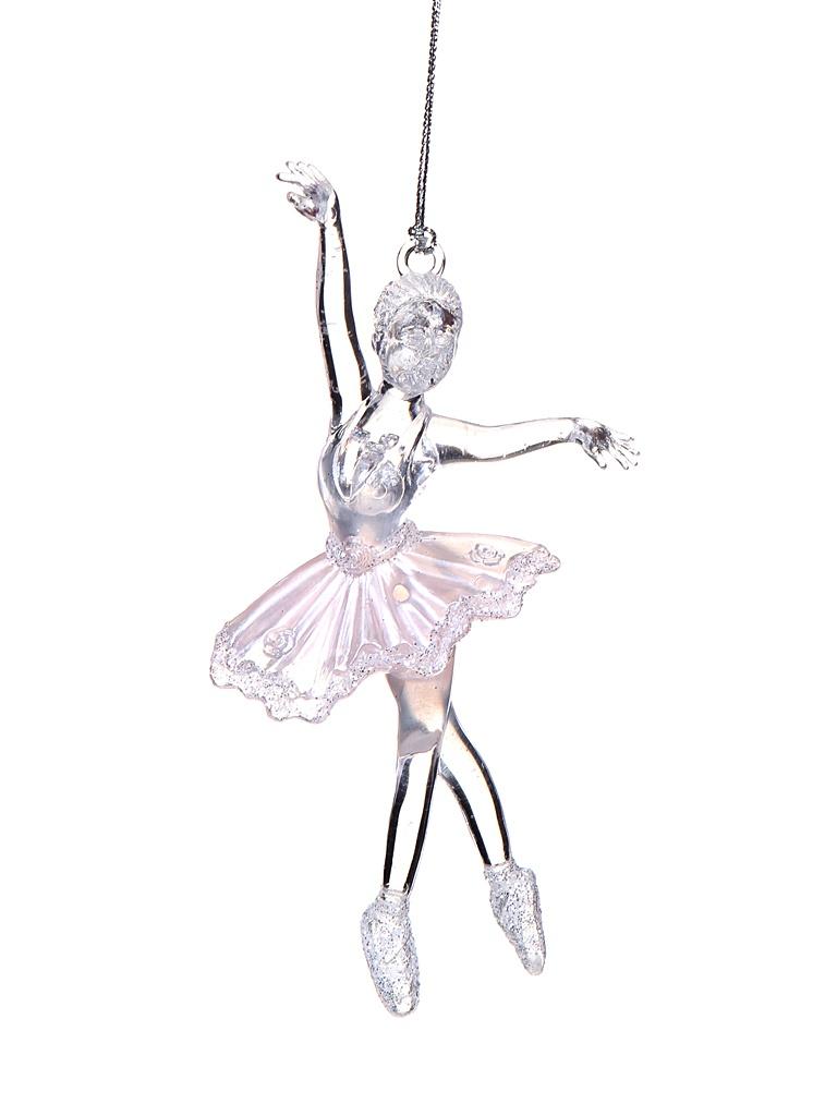 Ёлочное украшение Forest Market Балерина 15.2cm Transparent-Pink-Silver 150733