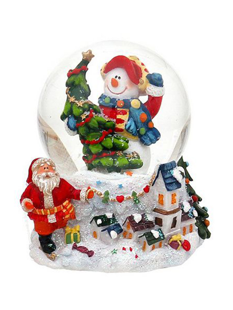 Снежный шар Sigro Вдохновенный снеговик в кепке 50-1611-кепка