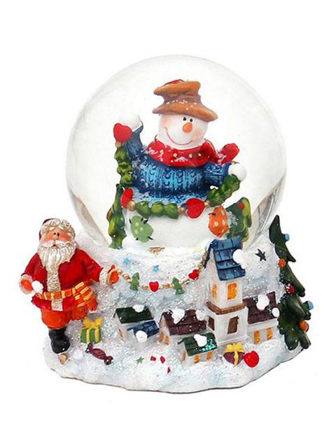 Снежный шар Sigro Вдохновенный снеговик в шляпе 50-1611-шляпа