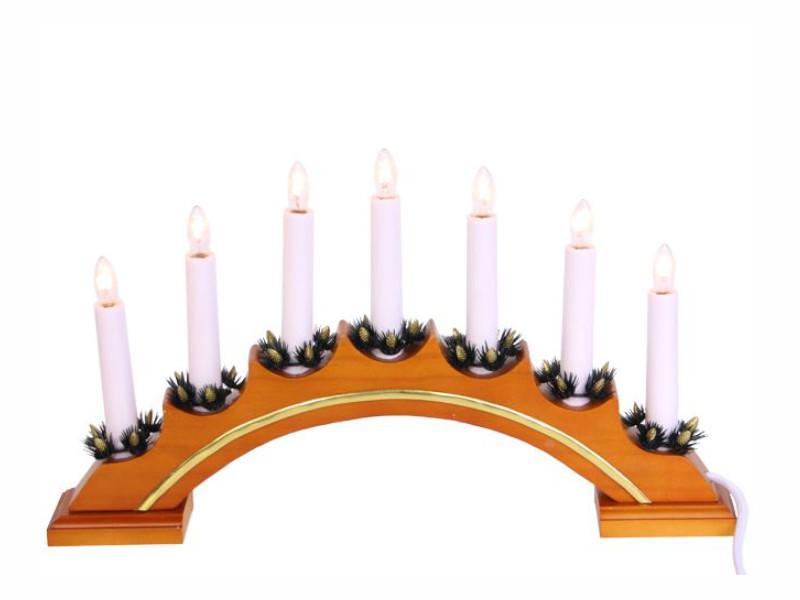 Светящееся украшение Star Trading Рождественская горка Vera 7 свечей Nut 151-06